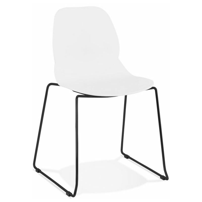 Chaise Design olganic 85cm Blanc & Noir - Paris Prix