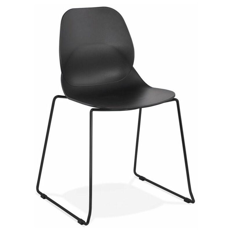 Chaise Design olganic 85cm Noir - Paris Prix