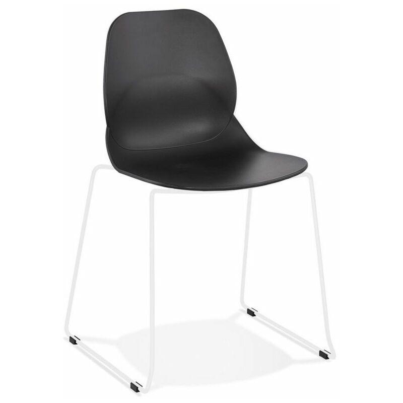 Chaise Design olganic 85cm Noir & Blanc - Paris Prix