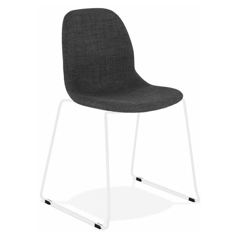Chaise Design sluna 85cm Gris Foncé & Blanc - Paris Prix