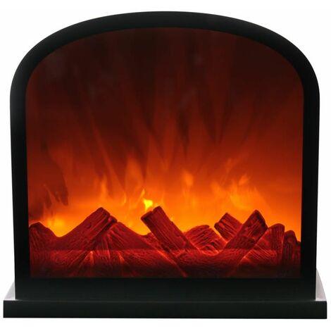 Paris Prix - Décoration Lumineuse 3 Led cheminée 30cm Noir