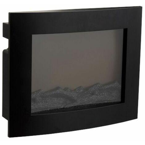 Paris Prix - Décoration Lumineuse Led cheminée 50cm Noir
