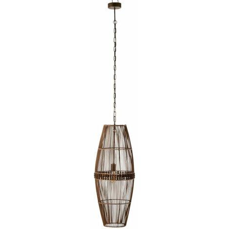 Paris Prix - Lampe Suspension Bambou ona 198cm Naturel
