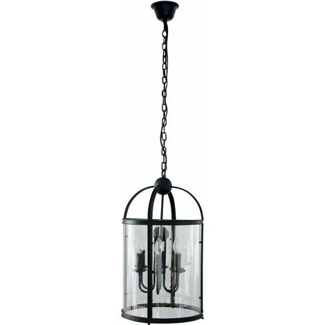 Paris Prix - Lampe Suspension Baroque borello 36cm Noir