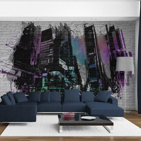 Paris Prix - Papier Peint art Urbain : Grande Ville Moderne 231 X 300 Cm
