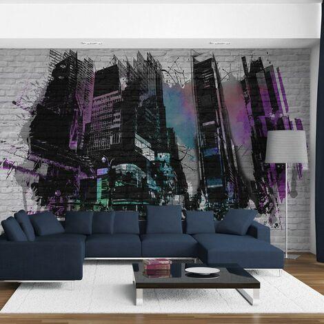 Paris Prix - Papier Peint art Urbain : Grande Ville Moderne Ii 270x450cm