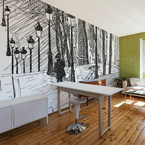 Paris Prix - Papier Peint escaliers Montmartre Ii 270x450cm