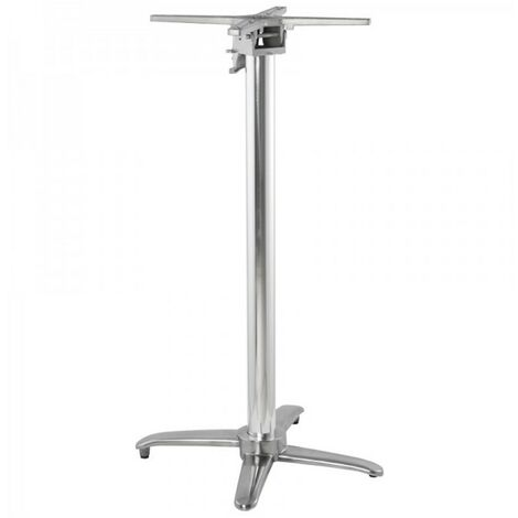 Paris Prix - Pied De Table En Aluminium aludo 110cm Argent