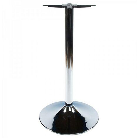 Paris Prix - Pied De Table En Métal chrome 110cm Argent