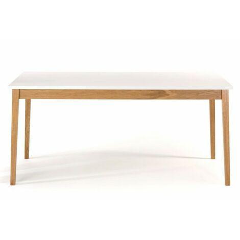 Paris Prix - Table à Manger Design blanco 165cm Blanc