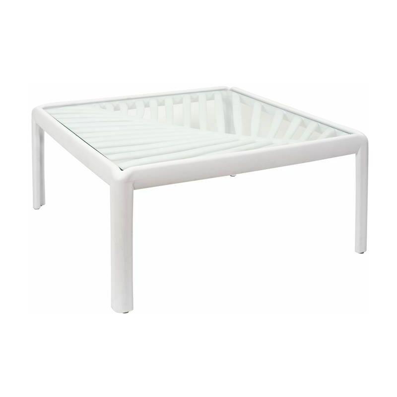 Table Basse D'extérieur Design ibiza 70cm Blanc - Paris Prix