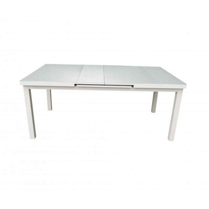 Table De Jardin Extensible osorno 180-240cm Blanc - Paris Prix