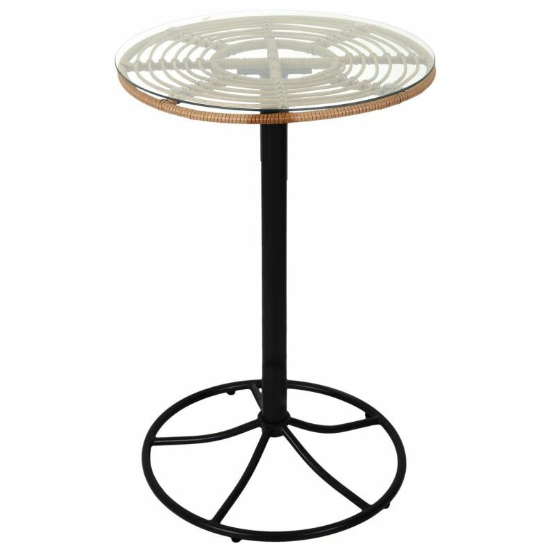 Table De Jardin Haute surabaya 100cm Noir - Paris Prix