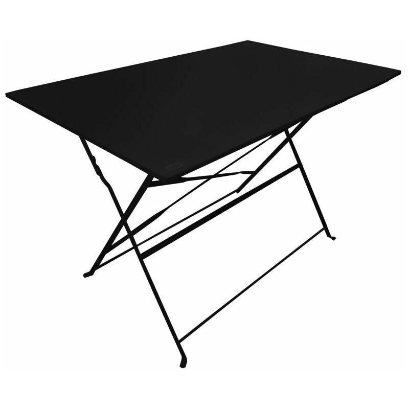 Paris Prix - Table De Jardin Pliante palerme 110cm Noir