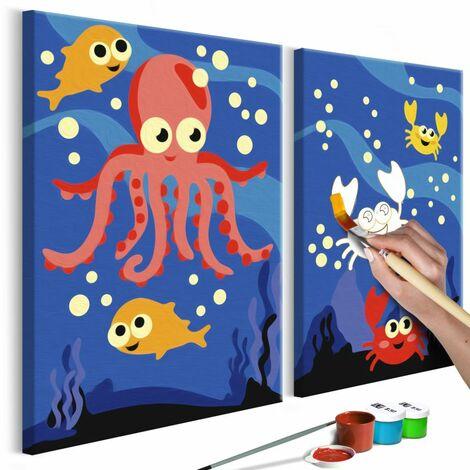 Paris Prix - Tableau à Peindre Soi-même au Fond De L'océan 23x33cm