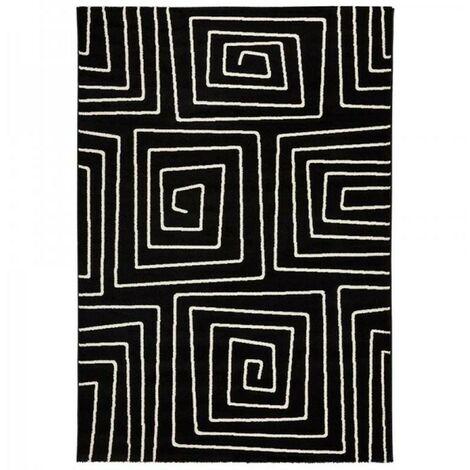Paris Prix - Tapis De Salon symetric 160x230cm Noir