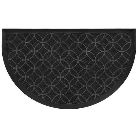 Paris Prix - Tapis D'entrée Demi-lune emilio 45x75cm Noir