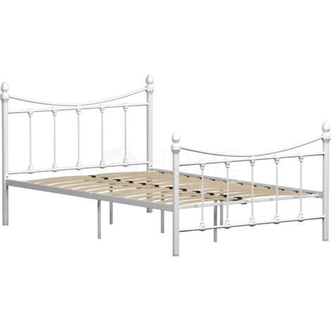 """main image of """"Paris Small Double Metal Bed, White"""""""