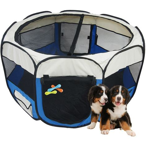 Park for Small Animals, Pet Playpen, Blue, Material: PVC-coated polyester