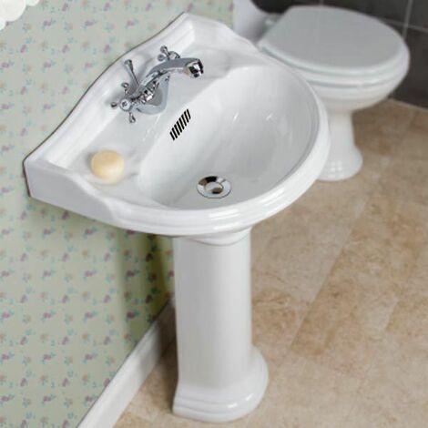 Park Lane Ryther Full Pedestal 500mm 1 Taphole Bathroom Sink
