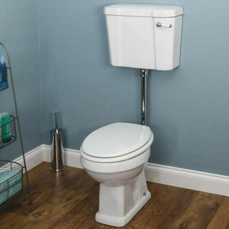 Park Lane Windsor Low Level Toilet with White Toilet Seat
