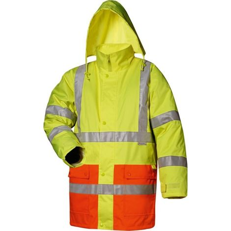 Parka alto visibilidad Thilo Talla S amarillo/naranja