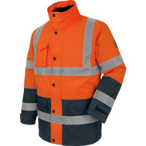 Parka de travail Würth MODYF haute-visibilité 4 en 1 orange/marine