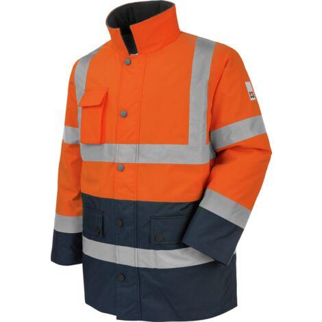 Parka de travail Würth MODYF haute-visibilité orange/marine