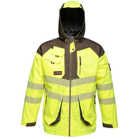 Jaune Fluo LMA 1382 SECOURS Surpantalon Haute Visibilit/é Imperm/éable Taille XL