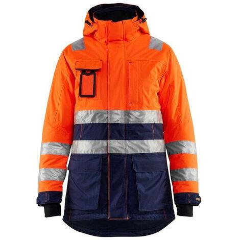 Parka hiver haute-visibilité femme - 5389 Orange fluo/Marine - Blaklader