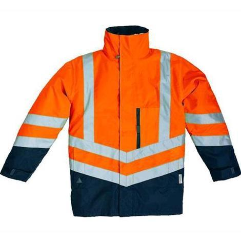 new arrival 4343c 59d60 PARKA PANOPLY OPTIMUM 4 in 1 TAGLIA S ARANCIO-FLUO/BLU giacca giaccone  giubbino gilet alta visibilità sicurezza antifornutinstica anti-freddo