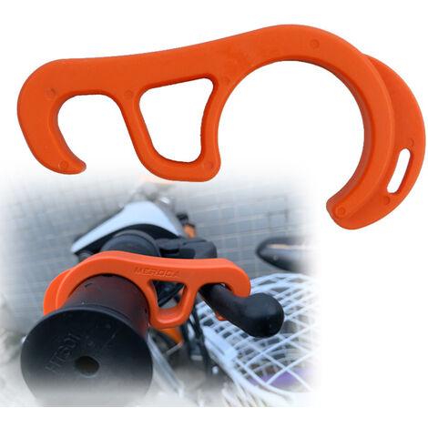 "main image of ""Parking?Brake?Lock?Hook Motorcycles Bicycles Lightweight Portable Ramp Parking Safety Buckle,model:Orange"""