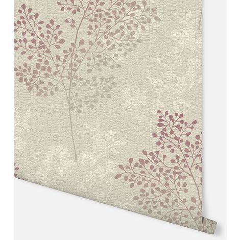 Parkland Stone & Red Wallpaper - Arthouse - 698005