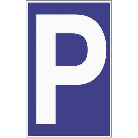 Parkplatzbeschilderung L250xB400mm Kunststoffschild blau/weiß