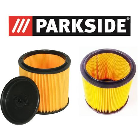 Parkside Lidl Kit de filtre pour aspirateur sec humide PNTS composé 91099009 & 91092030 pour tous les modèles Parkside