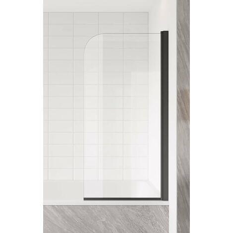 Paroi de baignoire Torino 5mm - 700 x 1400 mm - revêtement nano - noir