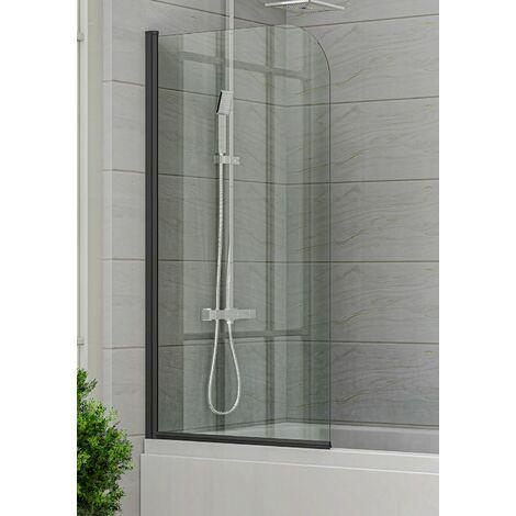Paroi de baignoire Torino 5mm - 800 x 1400 mm - revêtement nano - noir