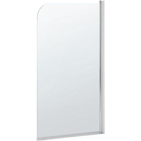 Paroi de bain et douche en verre de sécurité 140 x 80 cm LAPAN