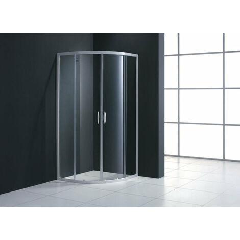 Paroi de douche 1/4 de cercle ALTERNA MEZZO extensible de 87 a 89 cm verre transparent, Ref.LF9G870