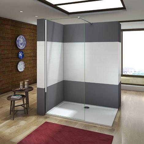 paroi de douche 110x200cm avec barre de fixation la pince. Black Bedroom Furniture Sets. Home Design Ideas