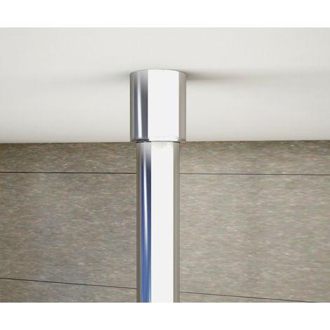 Paroi de douche 100x200cm en 8mm verre anticalcaire et livr/é une barre de fix/é /à plafond