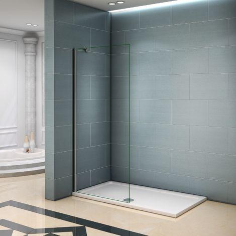 Paroi de douche 50x200 cm avec les différents barre de fixations