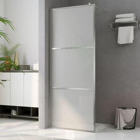 Paroi de douche à l'italienne à verre ESG dépoli 115x195 cm