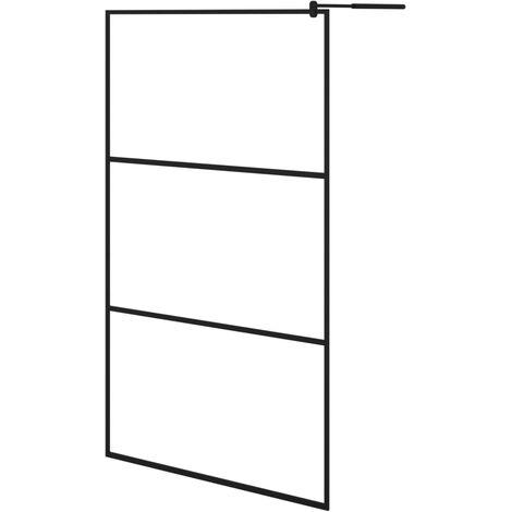 Paroi de douche à l'italienne à verre ESG Noir 115x195 cm