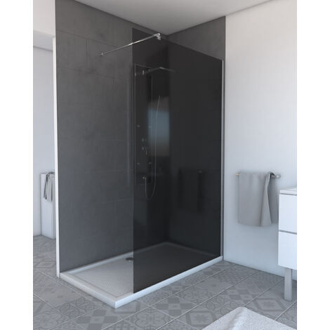 Paroi de douche à l'italienne BULMA FUMEE 120 - 120x200cm VERRE FUMEE 6m