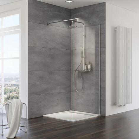 Paroi de douche à l'italienne Walk In MasterClass, verre 10 mm, profilé aspect chromé, 120 x 200 cm, Schulte