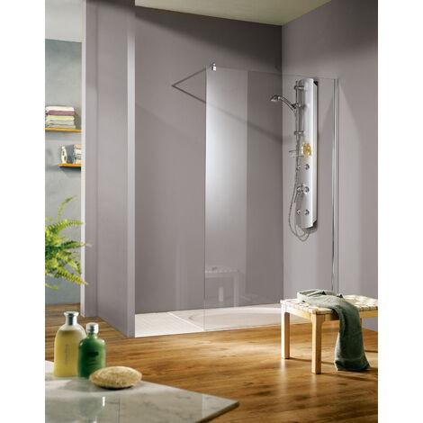 Paroi de douche à l'italienneWalk In SUR-MESURE Free, hauteur 200 cm, différentes largeurs, Schulte