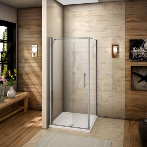 Paroi de douche accès d'angle cabine de douche Verre anticalcaire
