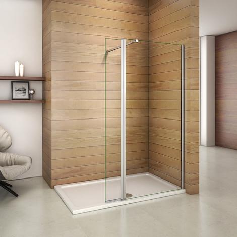 Paroi de douche avec retour pivotant avec les différents tailles