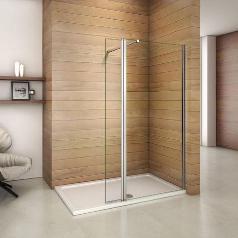 Paroi de douche avec retour pivotant de 40cm les diff�rents tailles